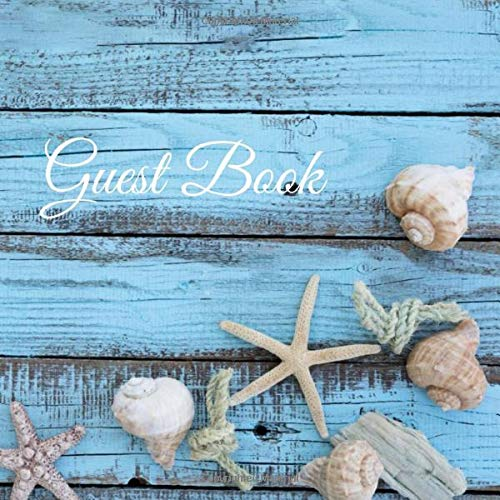 Guest Book: Sign In Log Book For Vacation Rentals   8.5 x 8,5 inches, 112 Pages   Ideal for Bed & Breakfast, Beach House, Rental Lodge, Guest House & More