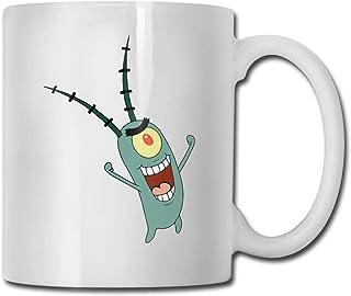 Tasse à thé en céramique brillante de tasse de café de plancton de magasin pour le bureau et la maison