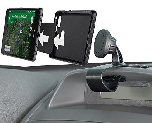 Lescars Handyhalterung Magnet: Universal-Smartphone-Magnet-Halterung fürs Armaturenbrett, 360°-Gelenk (Handy Kfz Halterung)