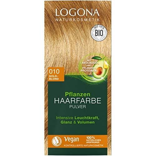 Logona Pflanzen-Haarfarbe-Pulver goldblond (100 g)