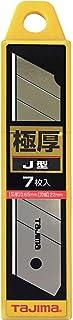 タジマ(Tajima) カッター用 替刃 極厚 J型刃 22mm 7枚入 CB62-7H/Y