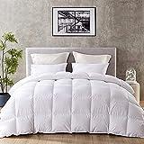 DOWNINNER King Size Down Alternative Comforter,- Brushed Microfiber Cover,Quilt with Corner Tab Plush Mircofiber Comforter Duvet Insert (106x90Inches,White)