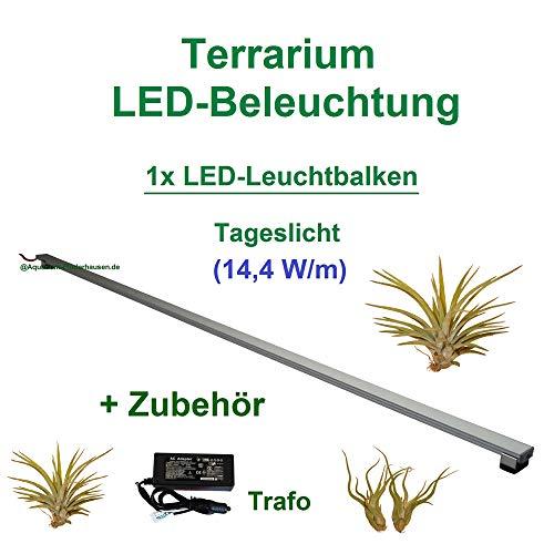 Aquarium-Plüderhausen Terrarium LED Beleuchtung Wüsten Reptilien Pflanzen LED 80 cm Set1 Leuchtbalken