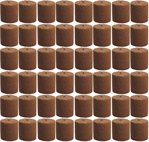 48x Holzspäne Brennelemente für Gartenfackel Feuerschale Feuersäule 8,5cm