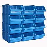 12x Profi Sichtboxen PP Größe 4 blau NEU Stapelbox Sicht-Lagerbox Box Sichtbox