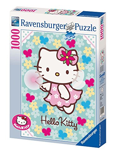 Ravensburger Puzzle, Puzzle 1000 Pezzi, Hello Kitty, Puzzle Adulti, Puzzle Ravensburger - Stampa di Alta Qualità