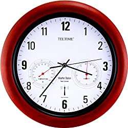 Atomic Radio Control w.Temperature Office Wall Clock