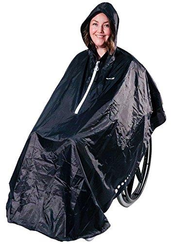 GOTITA – Der Poncho für den Rollstuhl – Der vielfältig einsetzbare Regenschutz für den Rollstuhl – einfache Handhabung, leichtes An- und Ausziehen – italienisches Design (Navyblau)
