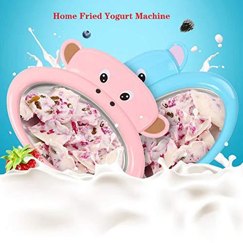 LKW Gebratene Joghurt-Maschine, Mini-Mini Gebraten Eismaschine Für Den Hausgebrauch, Smoothie EIS Braten Eiswürfelschal Für Kinder (Pink, Blau),Rosa