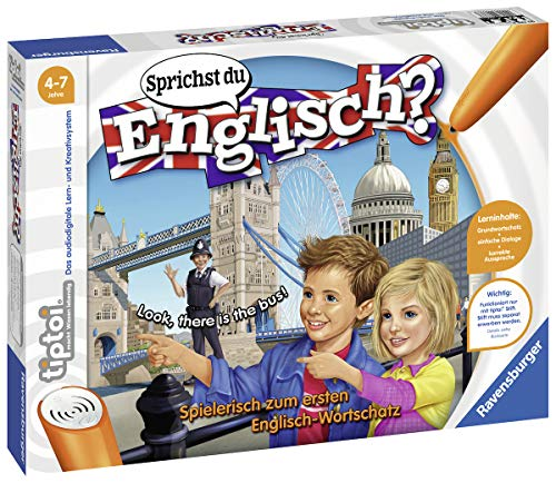 Ravensburger tiptoi Sprichst du Englisch? Spiel, ab 4 Jahren, Lerne spielerisch und interaktiv Englisch