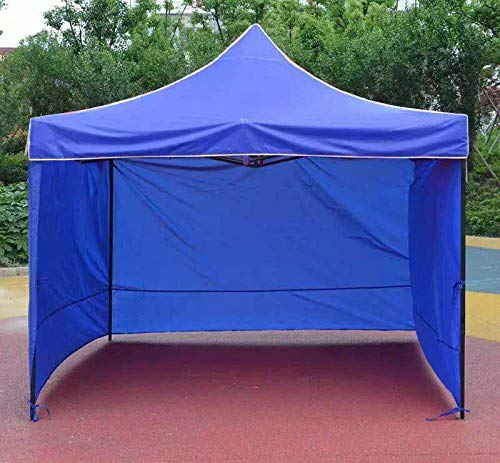 hdfj12142 Heavy Duty Gazebo Waterproof Marquee Tent Gazebo with 3 Sides Panels UV Protection party tent for Garden Camping pop up gazebo-2.5x2.5m_blue