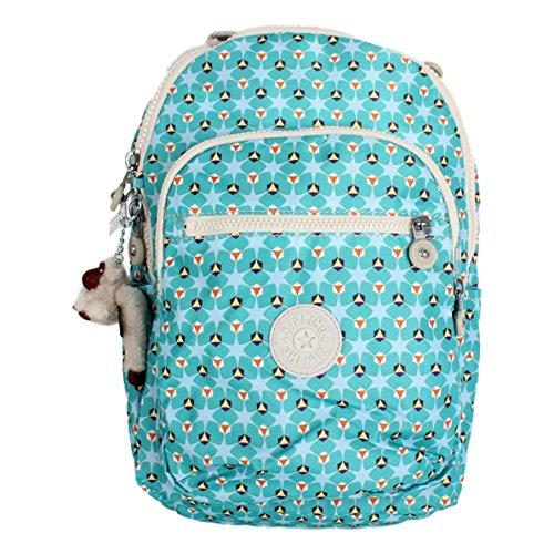 kipling Seoul Small Printed Backpack, Clover Teal