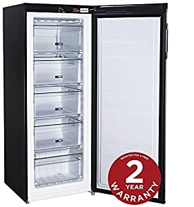 Russell Hobbs Freestanding 142cm Tall Freezer, A+ Rating, 157 Litre Net Capacity, Black, Reversible Door, RH55FZ142B - Free 2 Year Guarantee