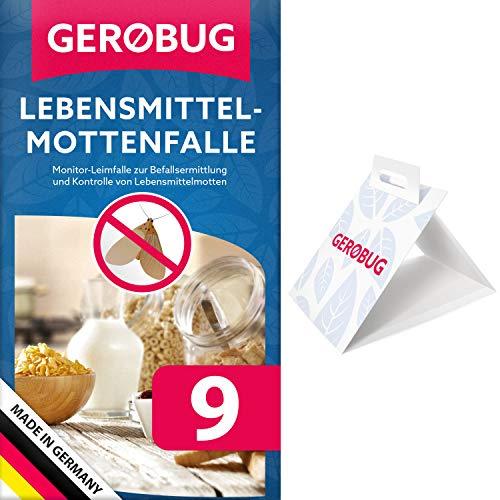 Gerobug® Lebensmittelmotten Falle + Gratis E-Book zum Motten bekämpfen - Mittel gegen Motten (9 Fallen)