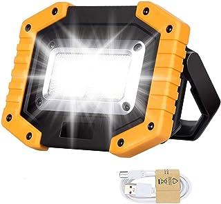 Proyector LED recargable, luces de trabajo portátil de 30 W con USB, foco impermeable al aire libre para reparación de coc...