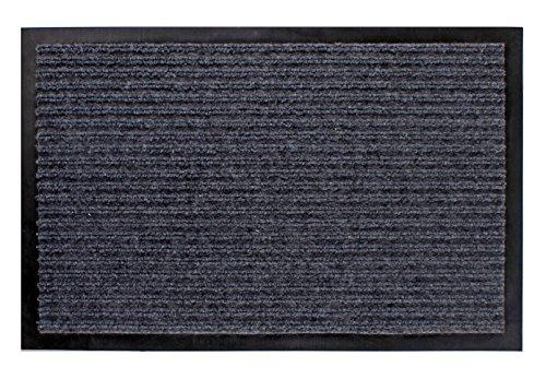 Spetebo Schmutzfangmatte grau - 80 cm x 120 cm - Fußmatte Fußabtreter Türmatte Außen