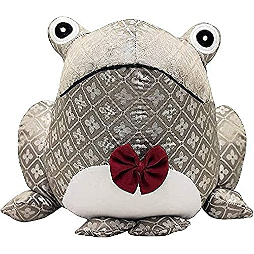 """Riva Paoletti Jacquard Frog Doorstop - Heavyweight Sand Filling - 100% Polyester - 25 x 18 x 21cm (10"""" x 7"""" x 8"""" inches) - Designed in The UK"""