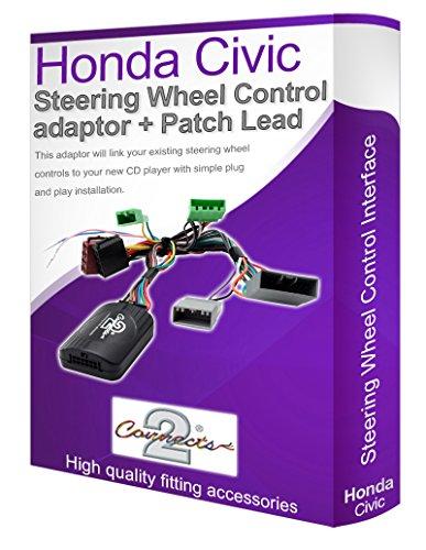 Adaptador de cable estéreo para coche Civic, conecta los controles de tallo del...