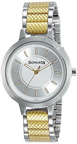 Sonata - Reloj analógico de mujer con esfera multicolor -NK8141BM01