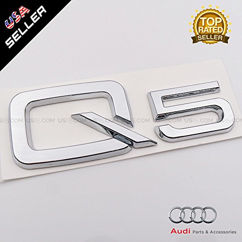US85 OEM ABS Nameplate Q5 Chrome Emblem 3D Trunk Logo Badge Decoration