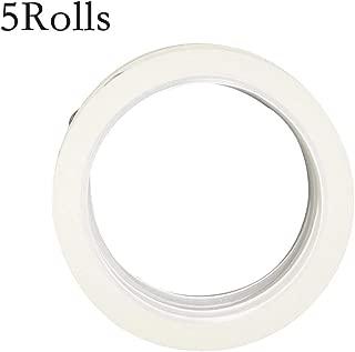 LGEGE 5 Rolls White Graphic Chart Tape/Artist Tape (Width: 3mm, 164ft per roll)