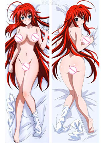 SmartSpo High School D X D Rias Gremory Ruin Princess 180 x 60 cm (70,8 x 23,6 pulgadas) Camiseta de dos vías Anime Funda de almohada japonesa
