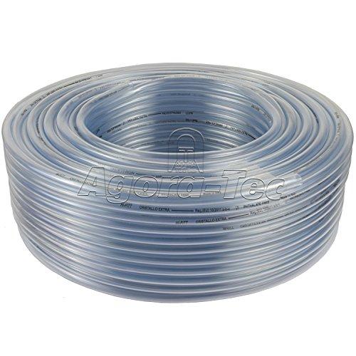 PVC Silikon Luft Wasser Schlauch Transparent Ø 8 mm x 10 mm 100m Rolle