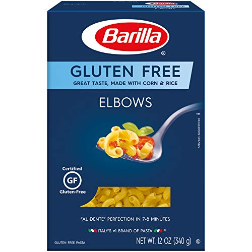 BARILLA Gluten Free Elbows Pasta, 12 Ounce - Non-GMO Gluten Free Pasta Made with Blend of Corn & Rice - Vegan Pasta