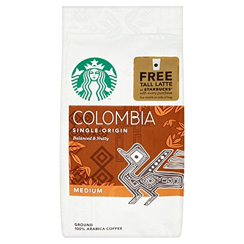 Starbucks Colombia Single-Origin Medium Ground Arabica Coffee, 200 g