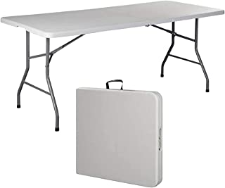 Multi-functional Adjustable Folding Table Portable Plastic Picnic Party Camping Table Indoor Outdoor, Size 180X74X74CM, Ma...