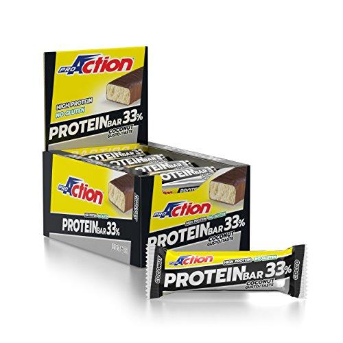 ProAction Protein Bar 33% (cocco, confezione da 20 barrette da 50 g)