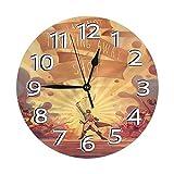 FETEAM Reloj de Pared Angelica Hamilton American Musical Relojes de Pared Funciona con Pilas Silencioso Decoración Pared para Cocina, Salon, Oficina, Dormitorio 25cm