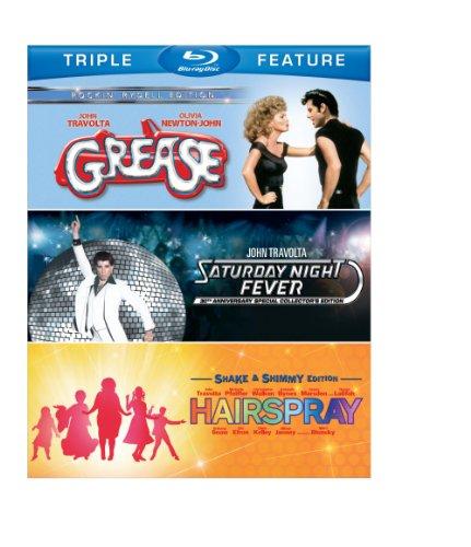 Grease/Saturday Night Fever/Hairspray (3FE)(BD) [Blu-ray]