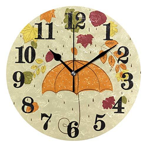 Azalea - Reloj de pared redondo no funcionado con pila, cuarzo y reloj de cuarzo