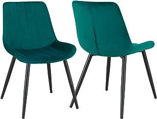 mati/ère:Velours Couleur:Vert Bleu Duhome Chaise /à Bascule Tissu Velours Design Retro Fauteuil /à Bascule Berceuse Chaise ber/çante Pieds en Metal et Bois