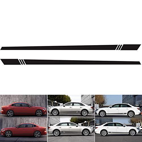 RENNICOCO 220x8cm Auto-Aufkleber-Streifen-Art-Seitenstreifen-Auto beide Körper-Aufkleber-Abziehbild-Auto-Verpackungs-Vinylfilm-Automobile Produkte Autozubehör