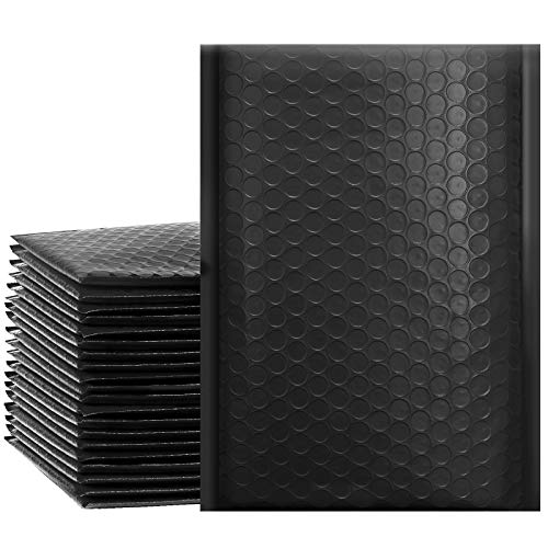 Versandbox Plus # 0Schwarz Poly Bubble Versandtaschen 15,2x 25,4cm Gepolsterte Briefumschläge Versand Taschen 50