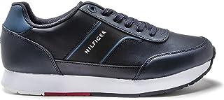 حذاء ركض رياضي من الجلد للرجال من تومي هيلفجر