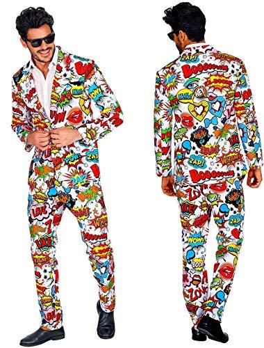 Checklife 60er Jahre POP Art Style Anzug Gr. XL