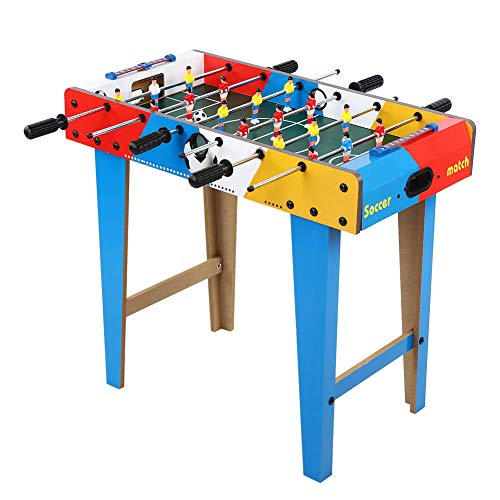 Zerodis 27.6 x 14.2 x 24in Foosball Table Soccer Game Soccer Competition Table Sports Best Gifts for 3-6 Years Old Kids