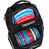 Dynamic Discs Trooper Disc Golf Backpack | Black | Frisbee Disc Golf Bag with up to a 25 Disc Capacity | Introductory Disc Golf Backpack | Lightweight and Durable