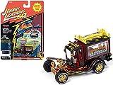 George Barris Ice Cream Truck Daisy Bell Custom Black Metallic Limited Edition to 4,412 Pieces Worldwide Johnny Lightning 50th Anniversary 1/64 Diecast Model Car by Johnny Lightning JLCG020-JLSP07