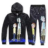 GFQTTY Sudadera con Estampado 3D para Hombre, Conjunto De Chándal De Rick Y Morty, Disfraz De Cosplay, Ropa Gráfica De Dibujos Animados Divertidos,Clothes Pants Suit,M
