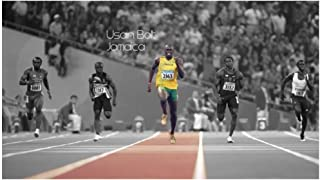 chtshjdtb Usain Bolt Athletes Wall Art Poster Decoration Gift Canvas Painting Home Wall Decor Gift Artwork -20X30 Inch No Frame 1 Pcs