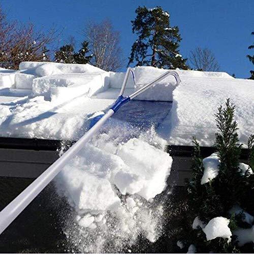 HUA Dachharken, Schneeräumer-Entfernungswerkzeug mit verstellbarem Teleskopgriff, Werkzeug zum Entfernen des Daches für Schneefräse 20 Ft