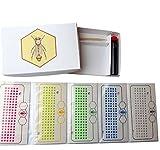 Germerott Bienentechnik Karten Garnitur mit Allen 5 Jahresfarben Zum Zeichnen und Markieren der Königin