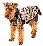 Karlie English Style Dog Coat Abrigo para Perro Estilo Ingles, 36 cm, Marrón, M