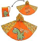 alles-meine.de GmbH Regenponcho / Regencape - Dinosaurier - Dino - Gr. 104 - 110 - 116 - 122 - 128 - Circa 3 bis 6 Jahre - für Kinder - Jungen - Dinos - Fahrrad / Regen Poncho - ..