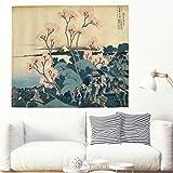 Kirschblüte Wandteppiche Tapestry Psychedelisch Tapisserie Wandtuch Hippie Wall Hanging,Wanddeko Indisch Wandbehang Strandtuch,Tagesdecke,Tuch,Picnic Throw,Japan-Dekor white 100x150cm