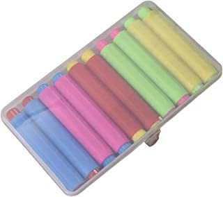 YeahiBaby Colorful Chalk Holder Non-Toxic Tasteless Chalk Storage Holder with Box for Kid Child 10 pcs